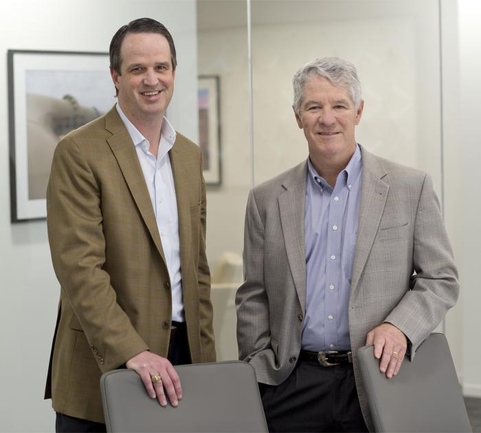 Oryx President Karl Pfluger, left, and CEO Brett Wiggs.